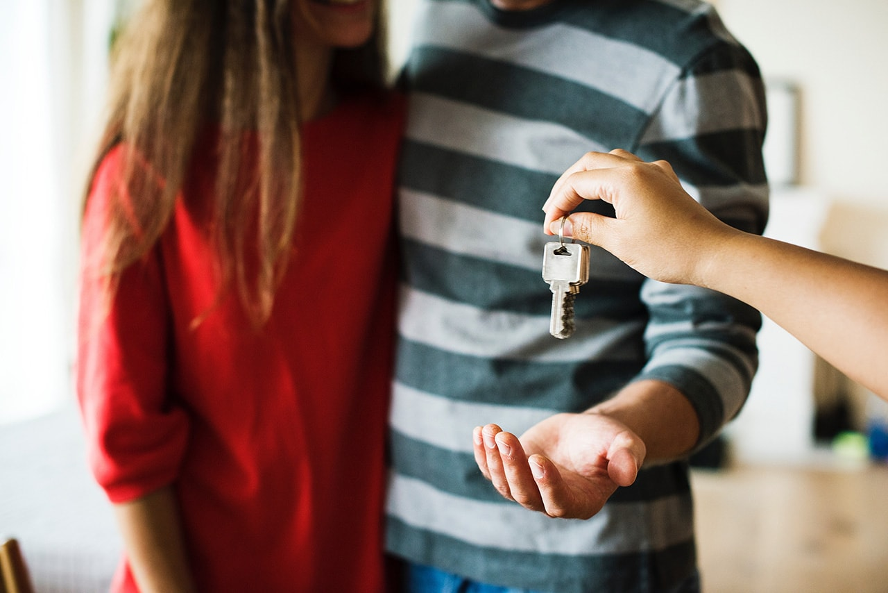 Receiving keys for a house bought with a mortgage